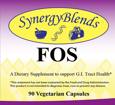FOS by Synergy Blends, a dietary supplement to support GI Tract Health