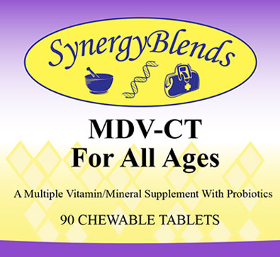 MDV Chewable multiple vitamin mineral supplement with Probiotics for all ages
